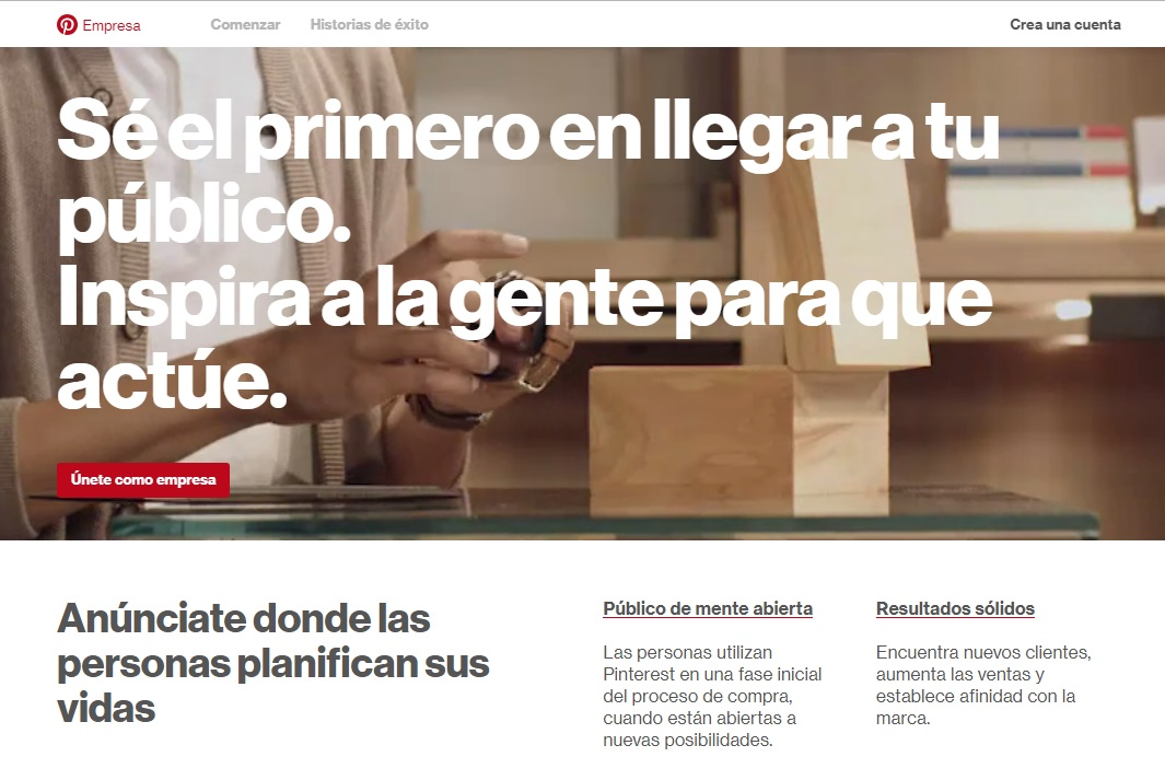 Ph: Página Oficial de Pinterest para Empresas