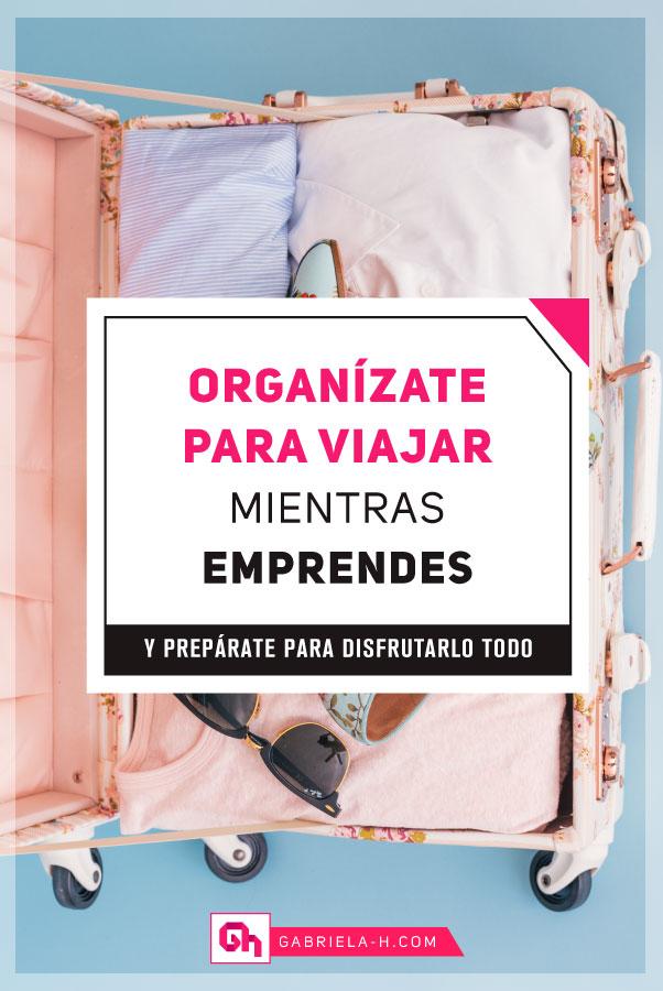 Cómo me organizo para viajar siendo emprendedora #productividad #organizacion #emprendedoras #viajar #viajes #asana #gabrielah #fluirconasana