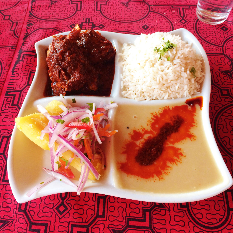 Riquísimo Cordero Seco del Restaurante  El Chaparral .