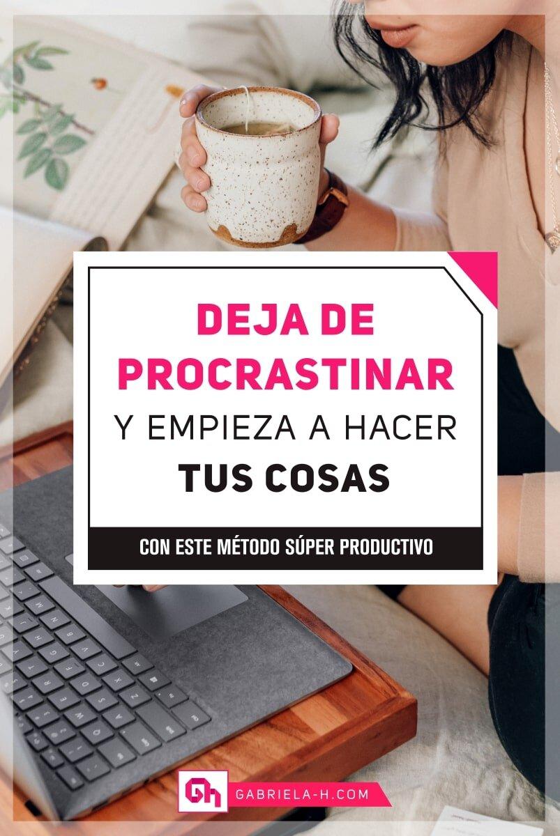 Cómo dejar de procrastinar con este simple método  #productividad #procrastinacion #habitos #emprendedoras