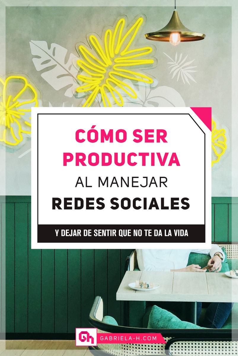 SER PRODUCTIVA EN REDES SOCIALES #productividad #organizacion #redessociales