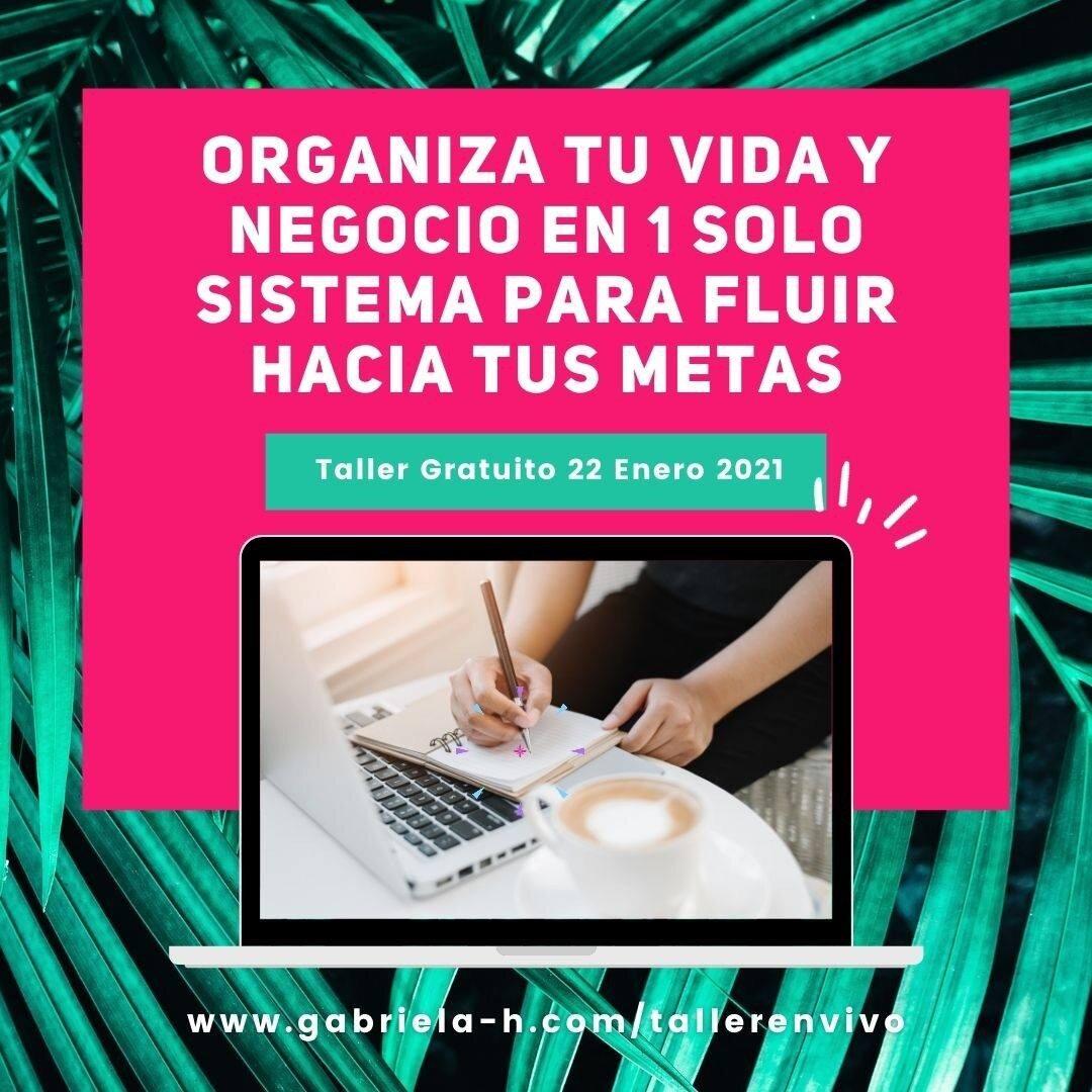 ¡El próximo viernes doy mi taller gratuito EN VIVO!  Será el VIERNES 22/01 a las 11 am Lima (10 am MX / 1 pm Bs As / 5 pm Madrid).  En este taller te mostraré:  💛 Por qué te cuesta tanto gestionar el tiempo y cómo resolverlo. 💛 Cómo organizar tu vida y tu negocio en 1 mismo sistema, aplicando el método GTD simplificado 💛 Una estrategia para mantenerte organizada los 365 días del año  Para participar solo tienes que registrarte en el link de mi perfil (https://gabriela-h.com/tallernevivo)  ¡Te espero!  #productividad #productividadpersonal #productividadcreativa #organizacion #tipsdeorganizacion #2021productivo #gabrielahiga #soyemprendedora #emprenderenfemenino #emprenderonline #emprendertransforma #fluirconasana #vibraproductiva