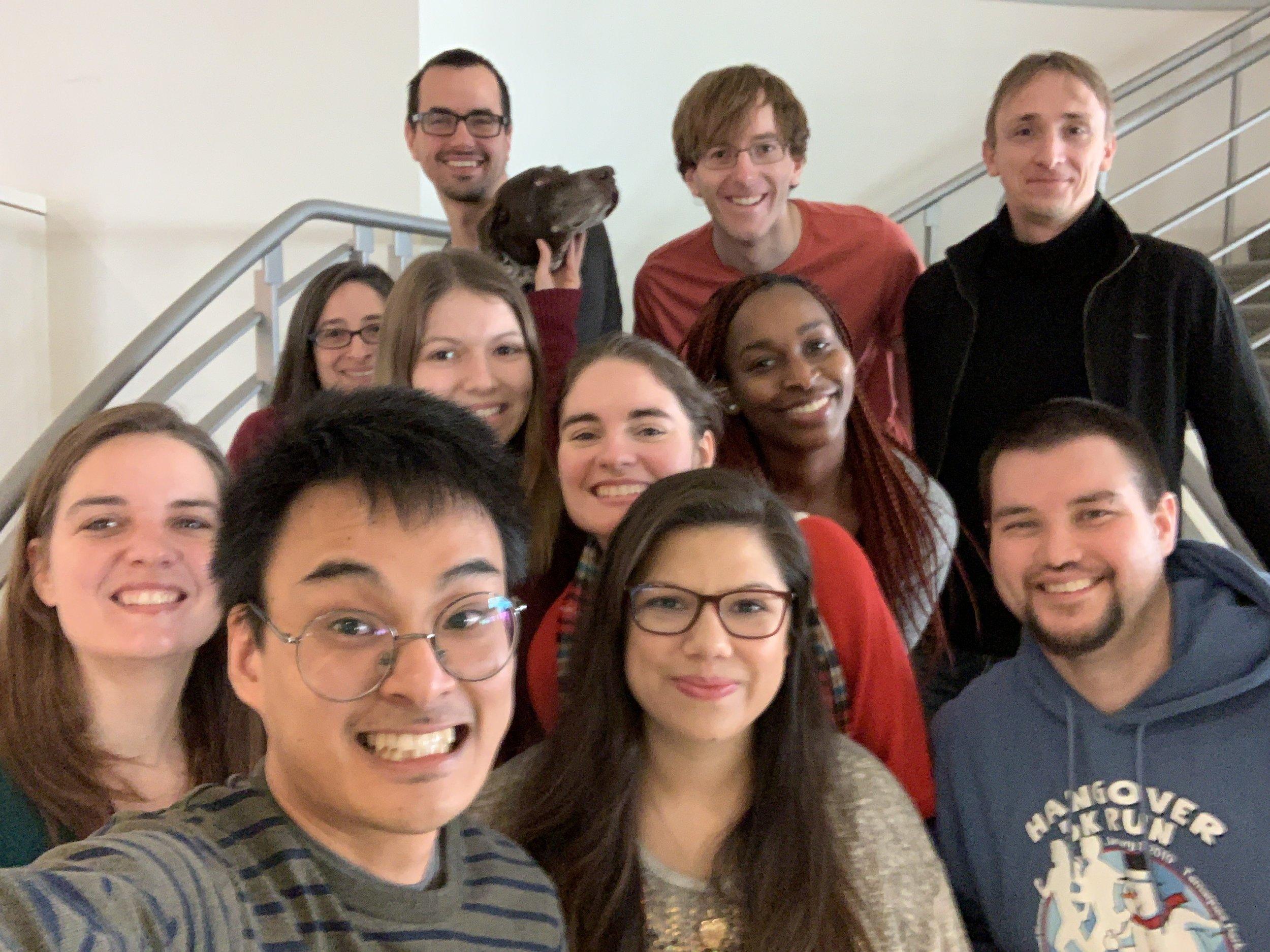 Lab Selfies, Spring 2019