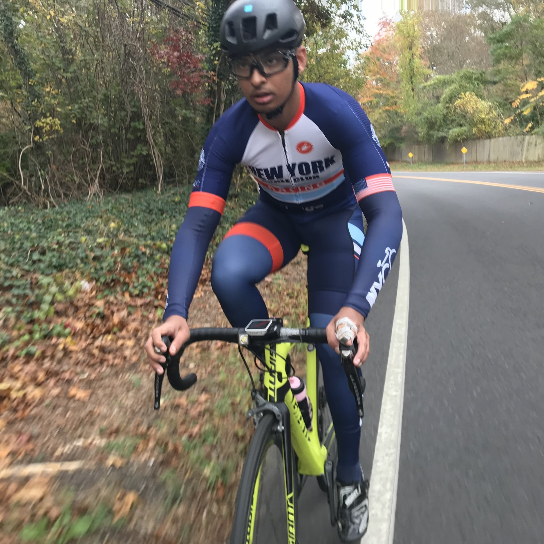 Michel Kazi - Michel, a student at Queens College studying computer science and mathematics, is a new member of the Cat 4 squad for 2018!