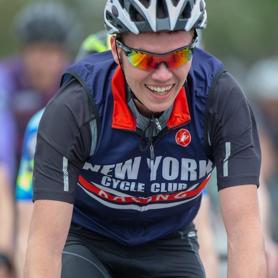 Nick Wheatley-Schaller - Nick started training in the summer of 2017, riding in the mountains around the Hudson Valley with his dad. In his first season, he quickly upgraded from Cat 5 to Cat 3.