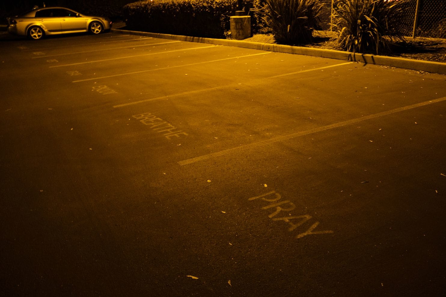 Westgate Church's Parking Lot. (Nick Otto)
