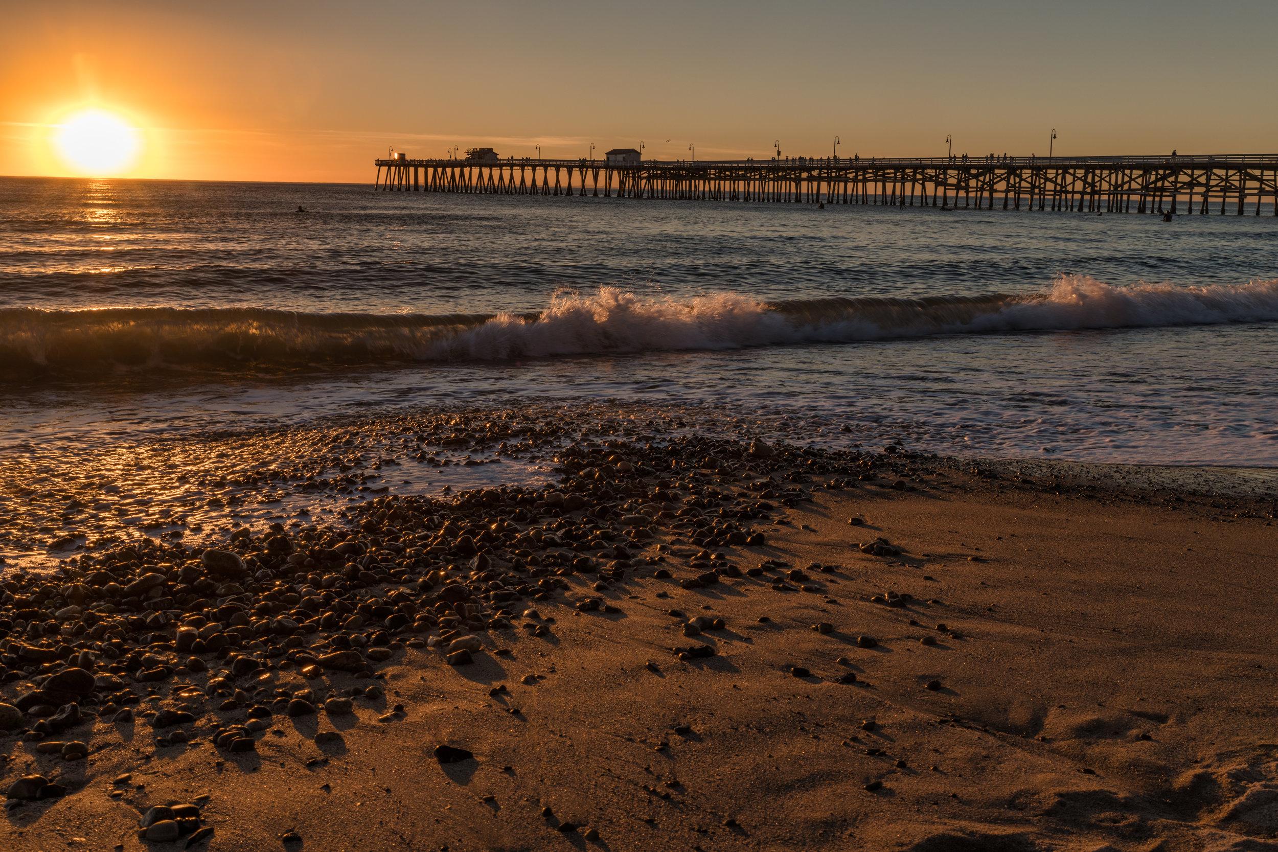 Shoreline of San Clemente Beach