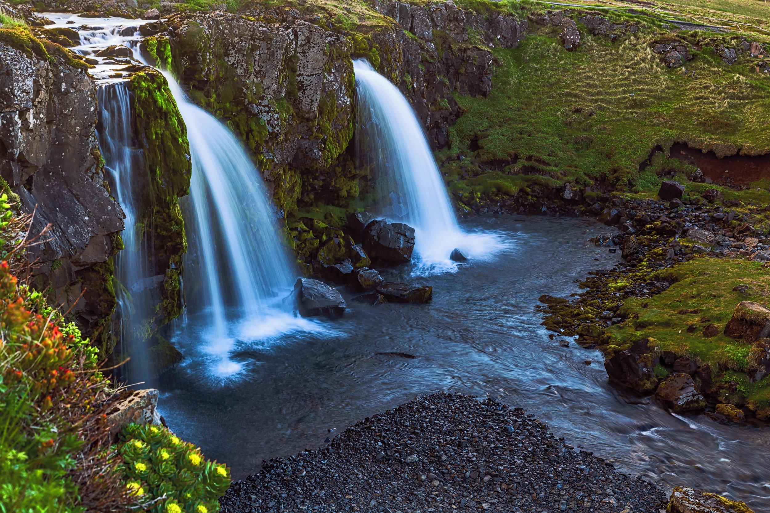 The falls at Kirkjufell