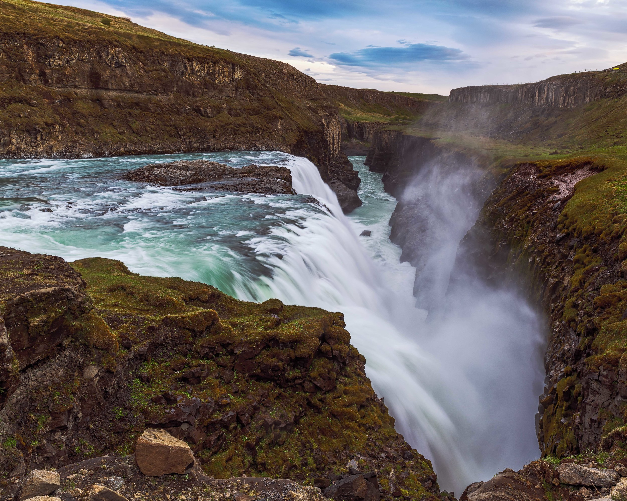 Rushing water at Gullfoss