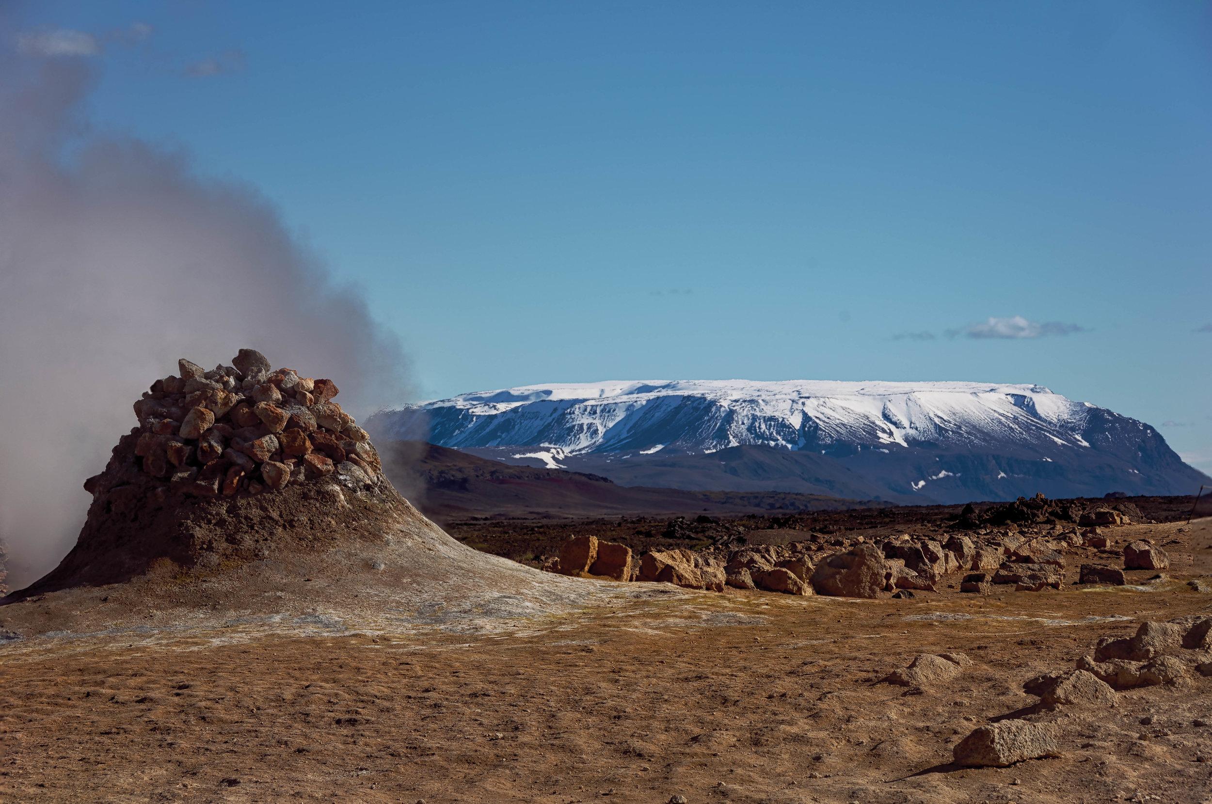 Geothermal activity at Hverir Geothermal Park