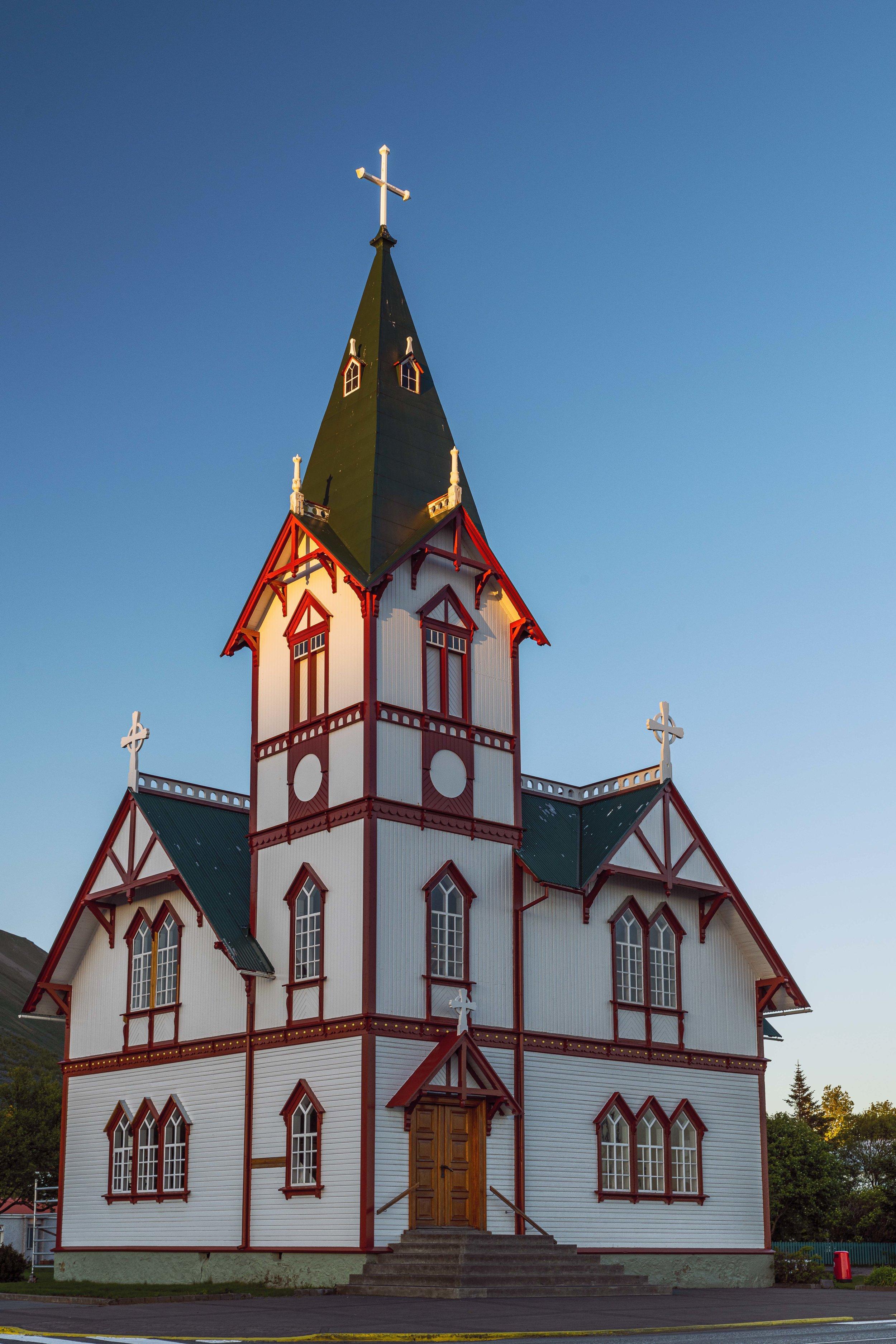 A church in Húsavík