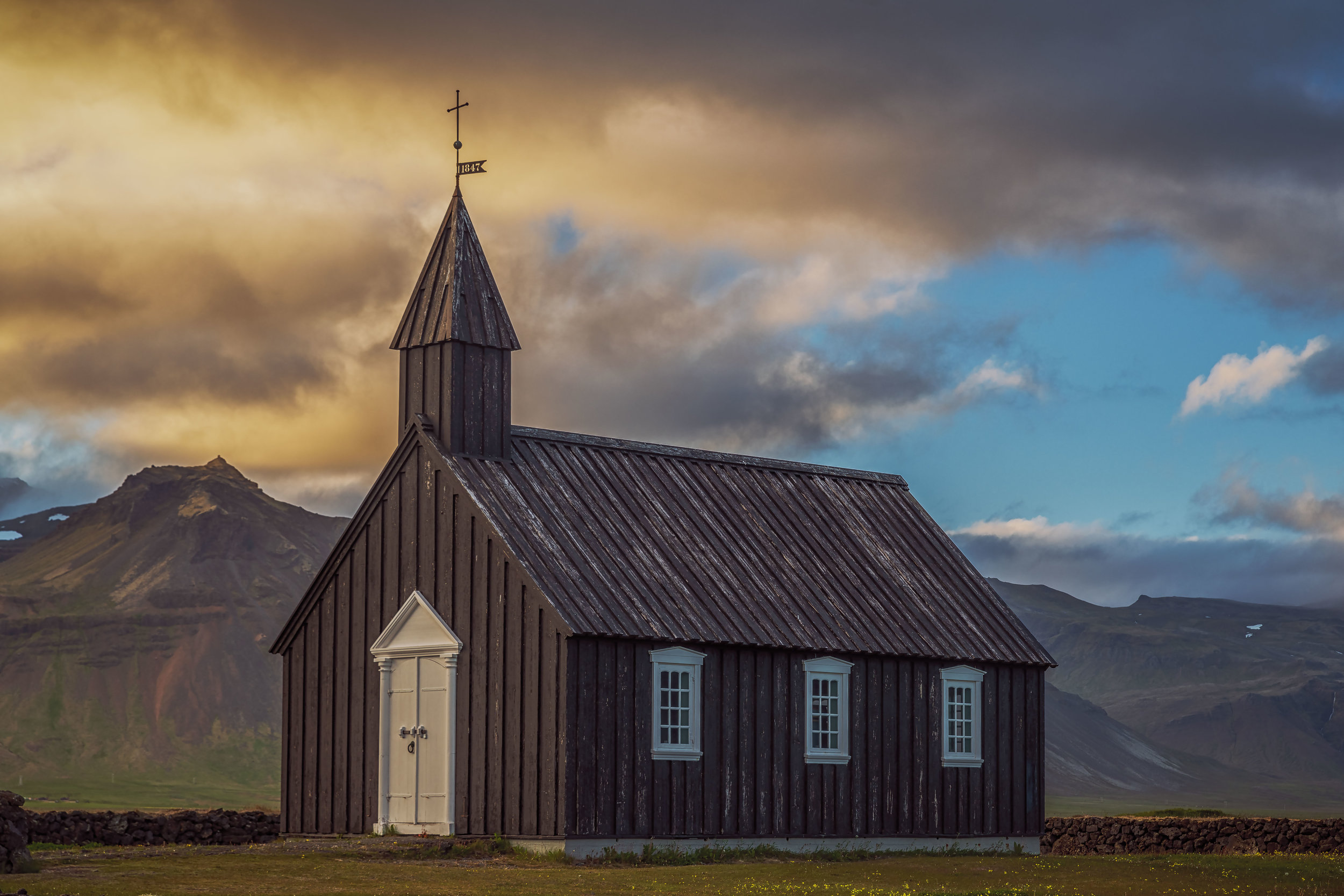 A late evening at The Black Church of Budir