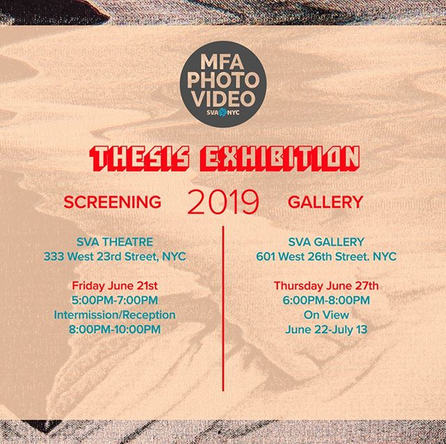 Our Department Thesis opening is next Thursday hope to see you there!  you can see my prints, textiles and 3d prints in person ! #henrikson #svamfaphotovideo #nextslide #sva #nyc