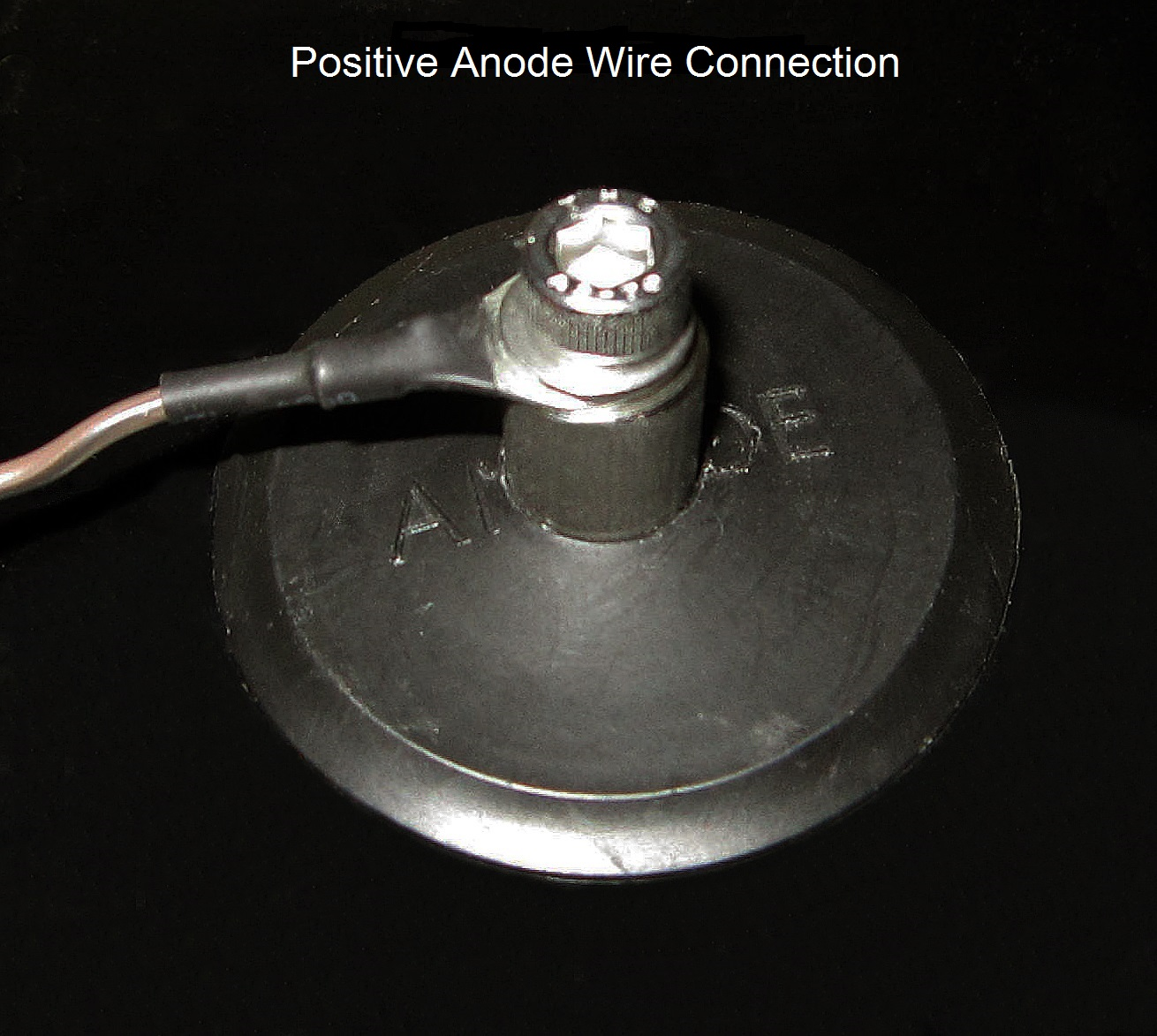 Recessed Anode Connection