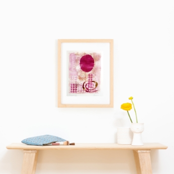 """Loggia XII"" Original Artist Pulled Monotype by Tesia Blackburn"