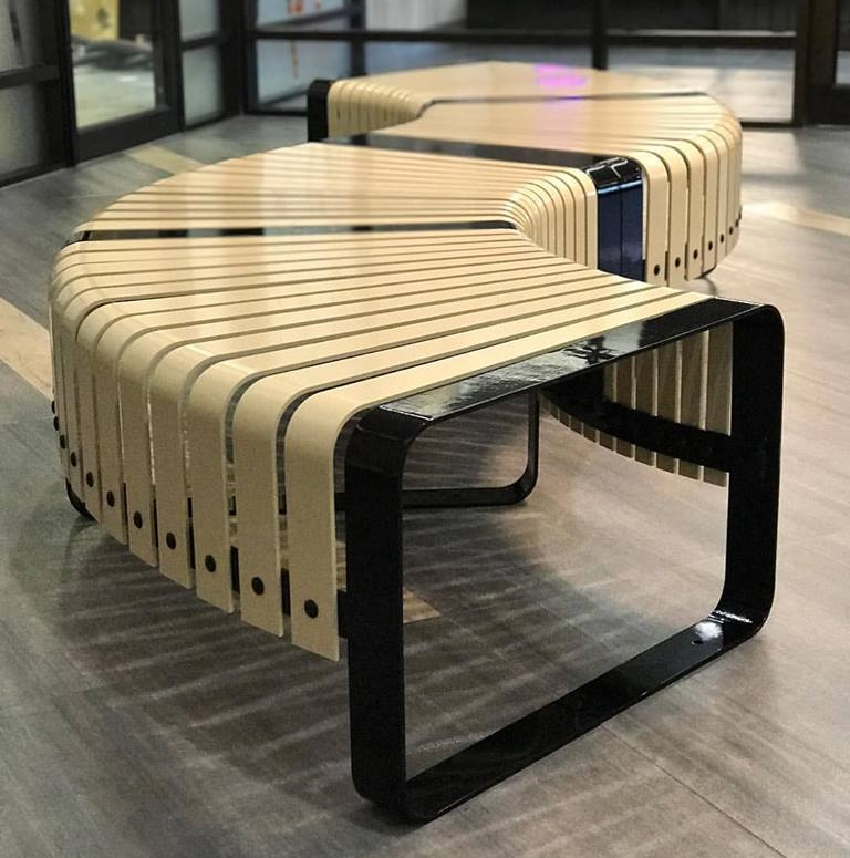 site + furnishing + Edmonton + steel bench