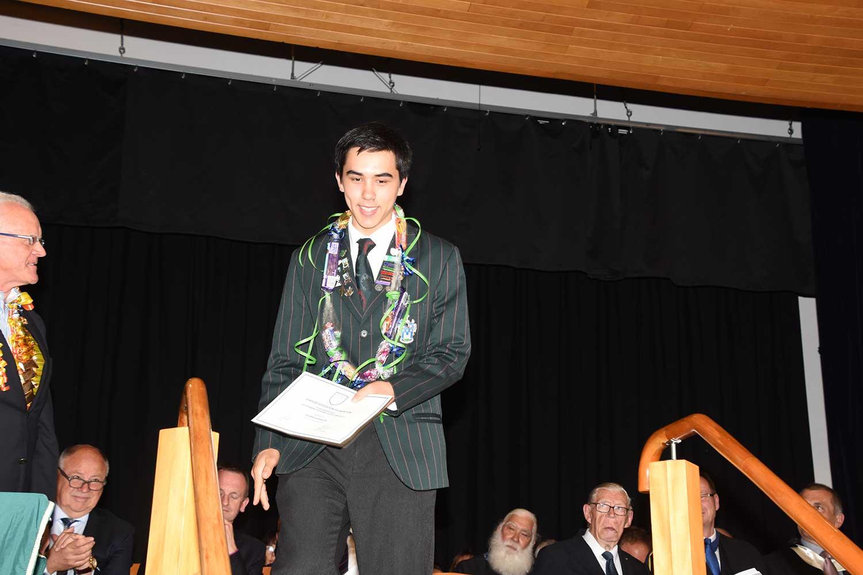 Thomas Swinburn, Dilworth Prize Giving 2016