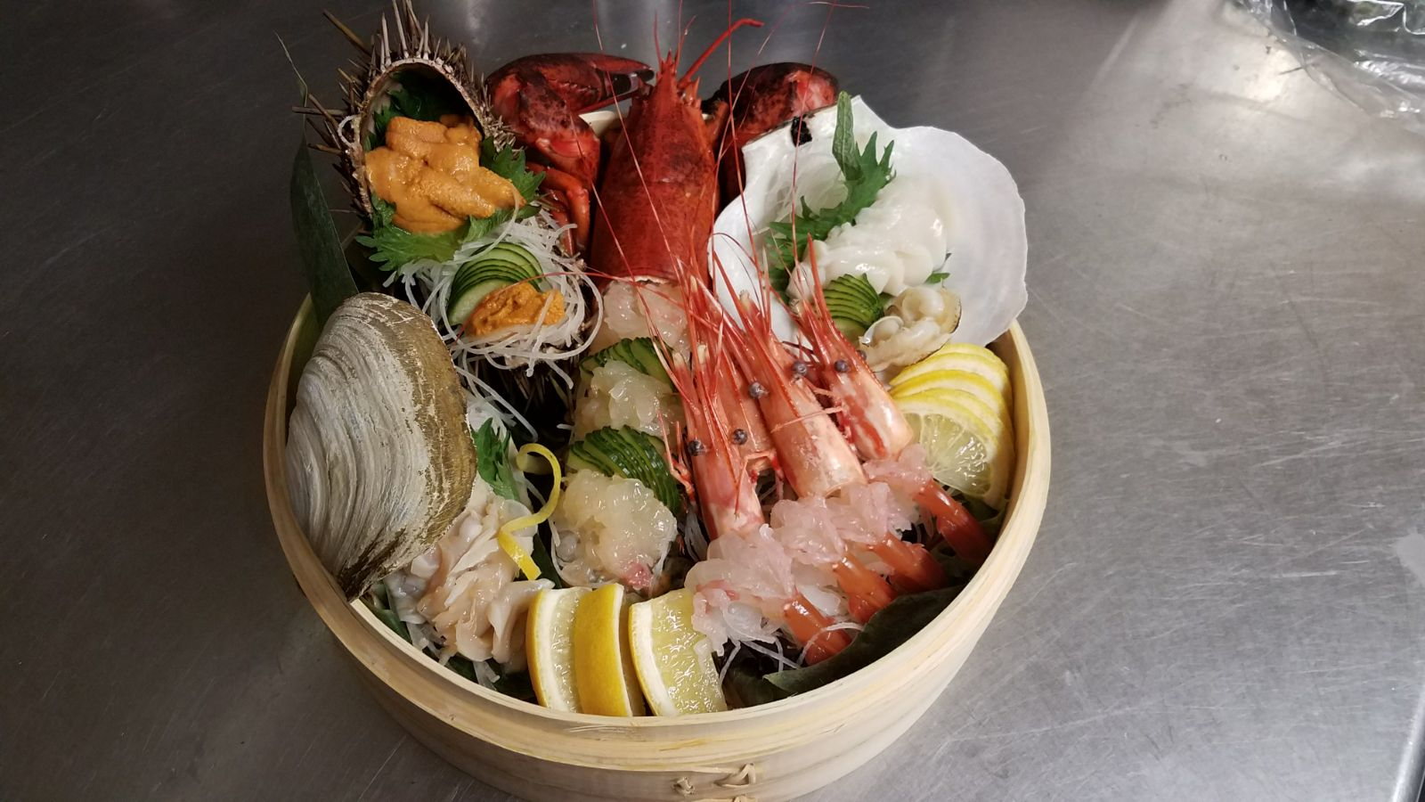 February 2018 - Grand Prize Winner - A Pot of Exotic Live Seafood Sashimi