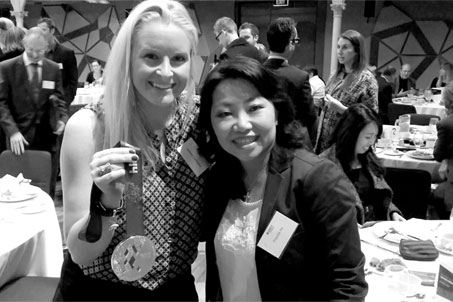 Jessica with Priscilla Ho at the Outstanding Alumni Awards Breakfast earlier this year.