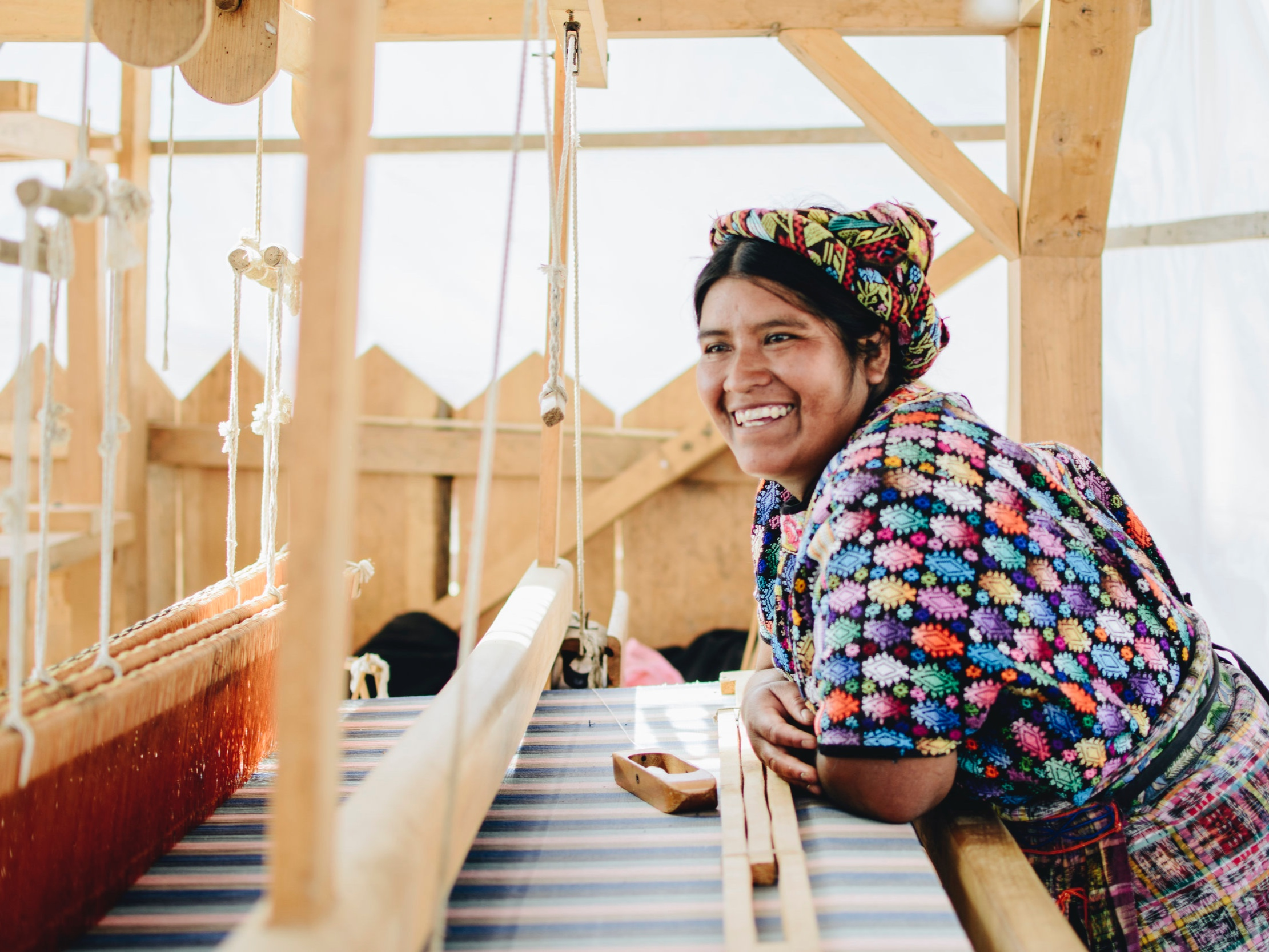 """Pixan - House of Design Pixan is a fair trade textile workshop in the western Highlands of Guatemala. Pixan, meaning """"spirit"""" in the Maya language of K'iche, is an association of indigenous artisan weavers, expert in the ancient techniques of back-strap and pedal loom weaving and embroidery, and an initiative of AMA (Highland Support Project's organizational partner)."""