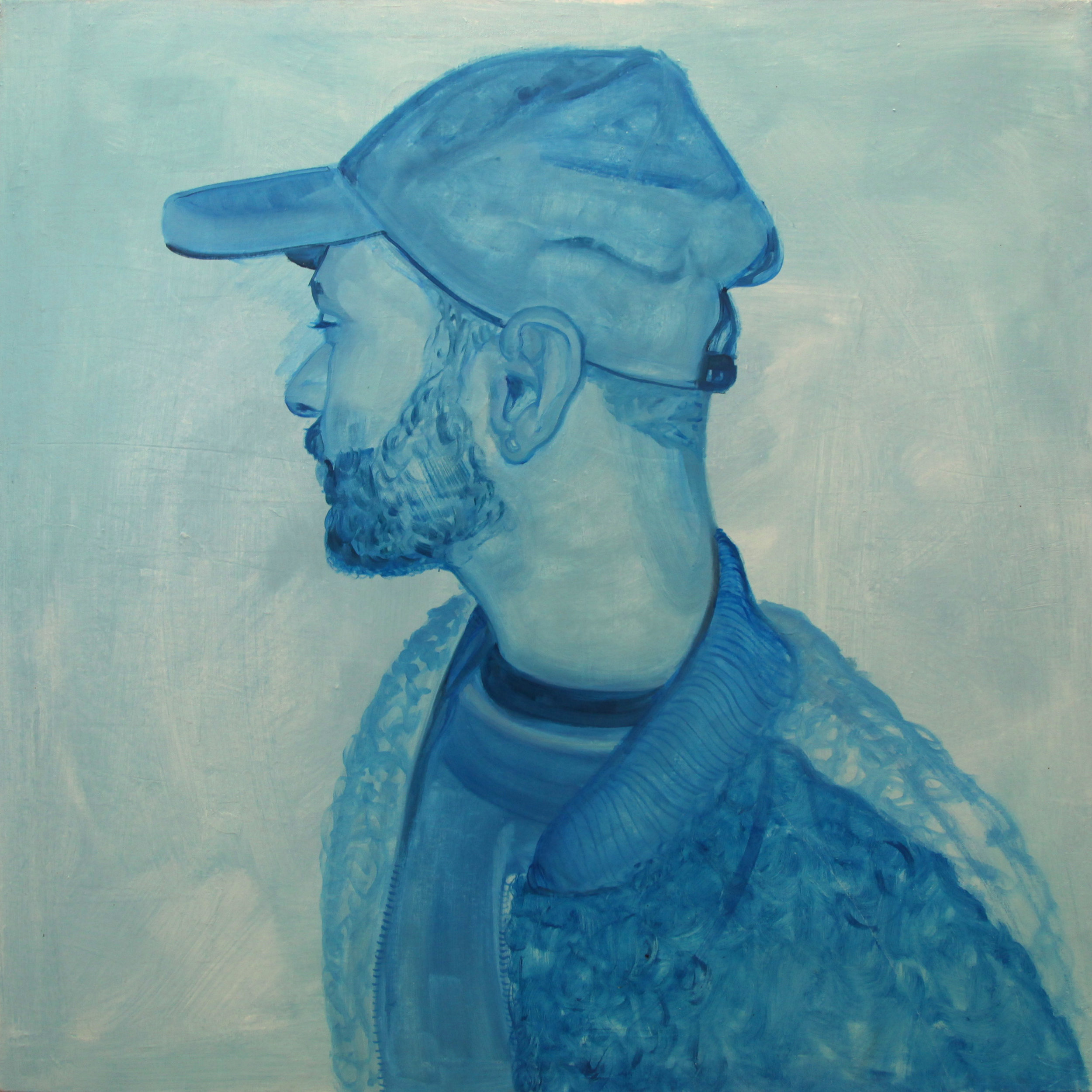Portrait in Haint Blue