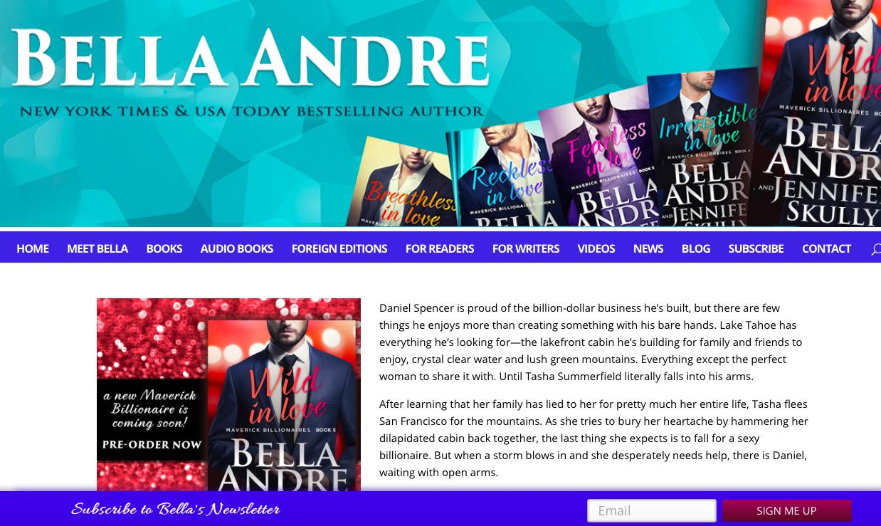 Bella Andre website