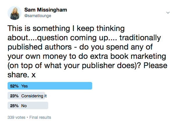 Authors spending their own money question