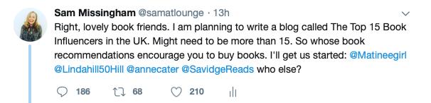TEA - Book Influencer Tweet