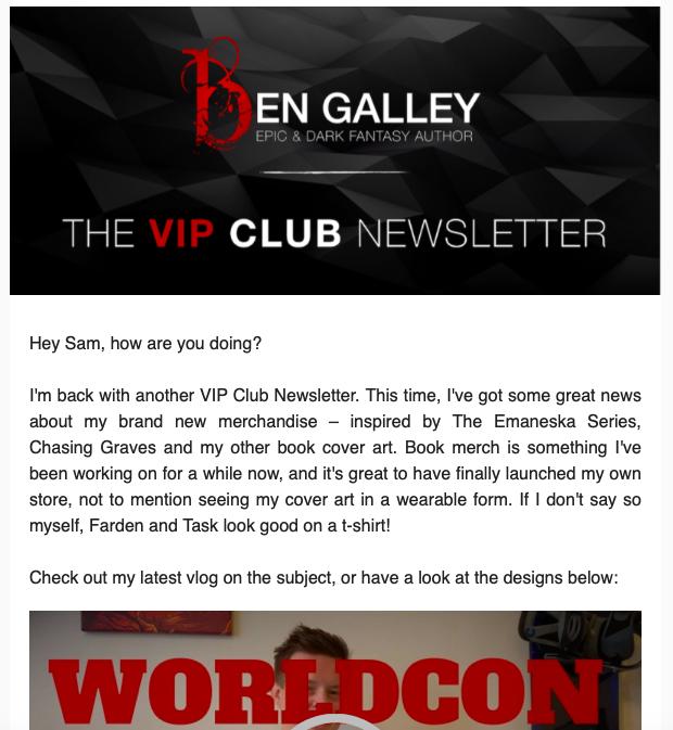TEA - Author newsletter examples - Ben Galley.png
