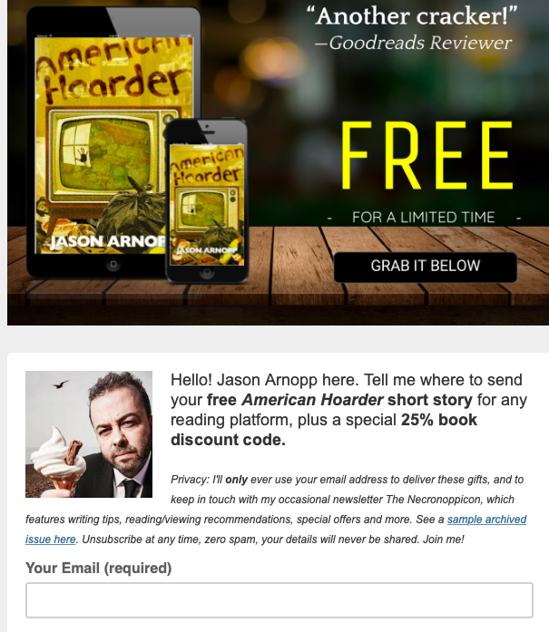 TEA - Author newsletter examples - JAson ARnopp sign up.png