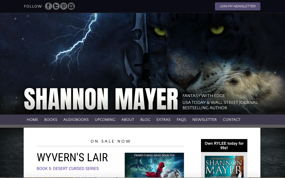 TEA - Author Website - Home page - Shannon Mayer.png