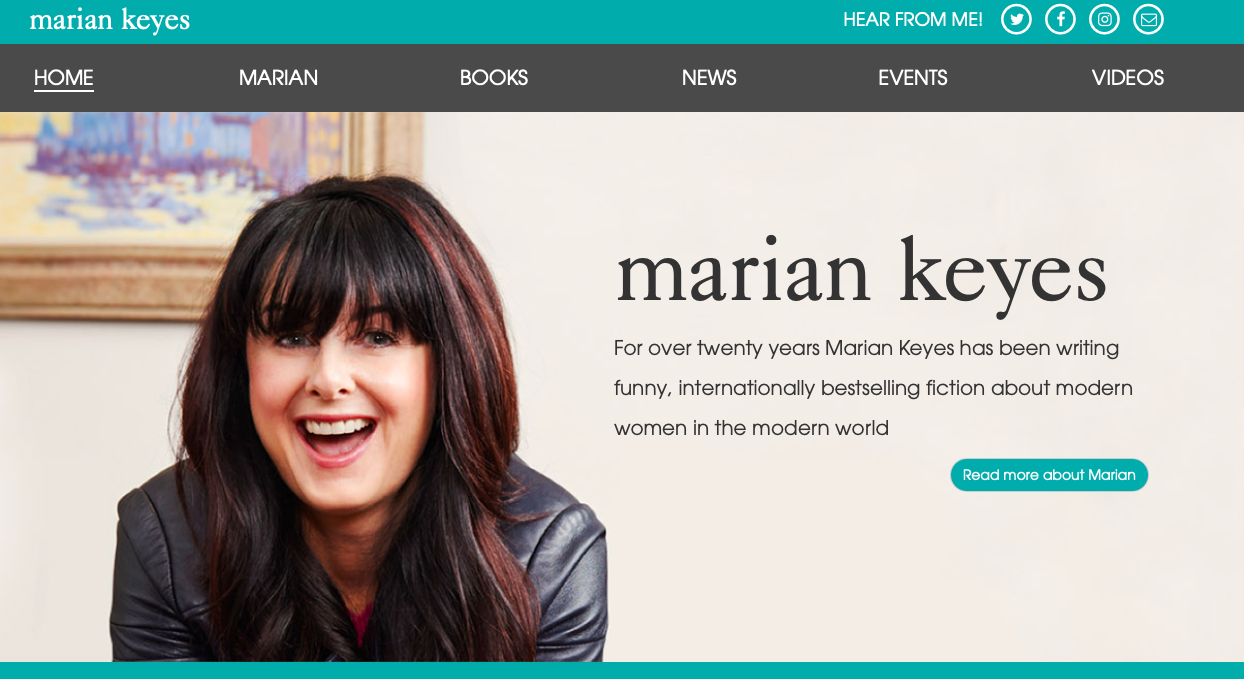 TEA - Twitter home page - author Marian Keyes.png