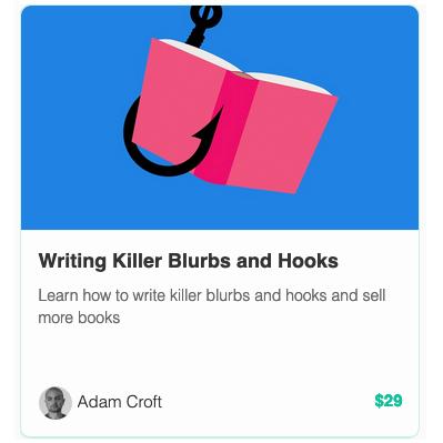 TEA - Online course - Writing Killer Blurbs and hooks Adam croft.png