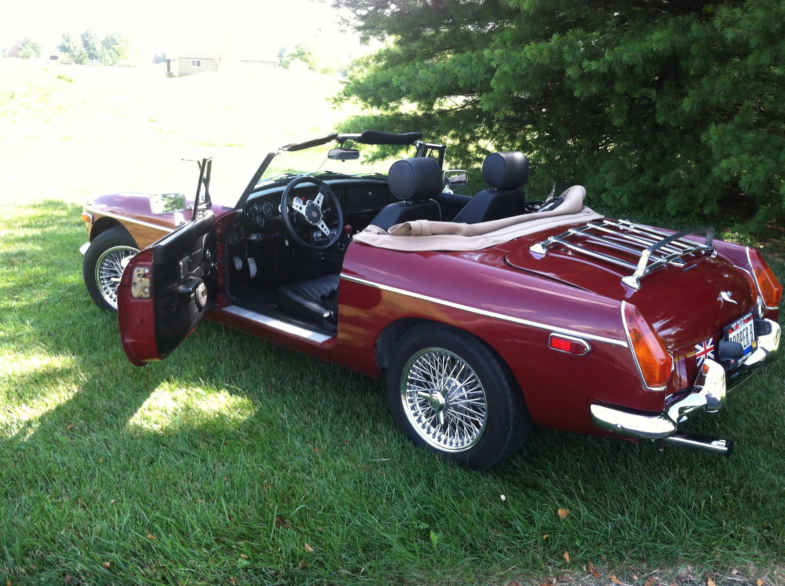 """My """"rescue"""" roadster, a 1977 MGB, aka """"Sooper B"""""""