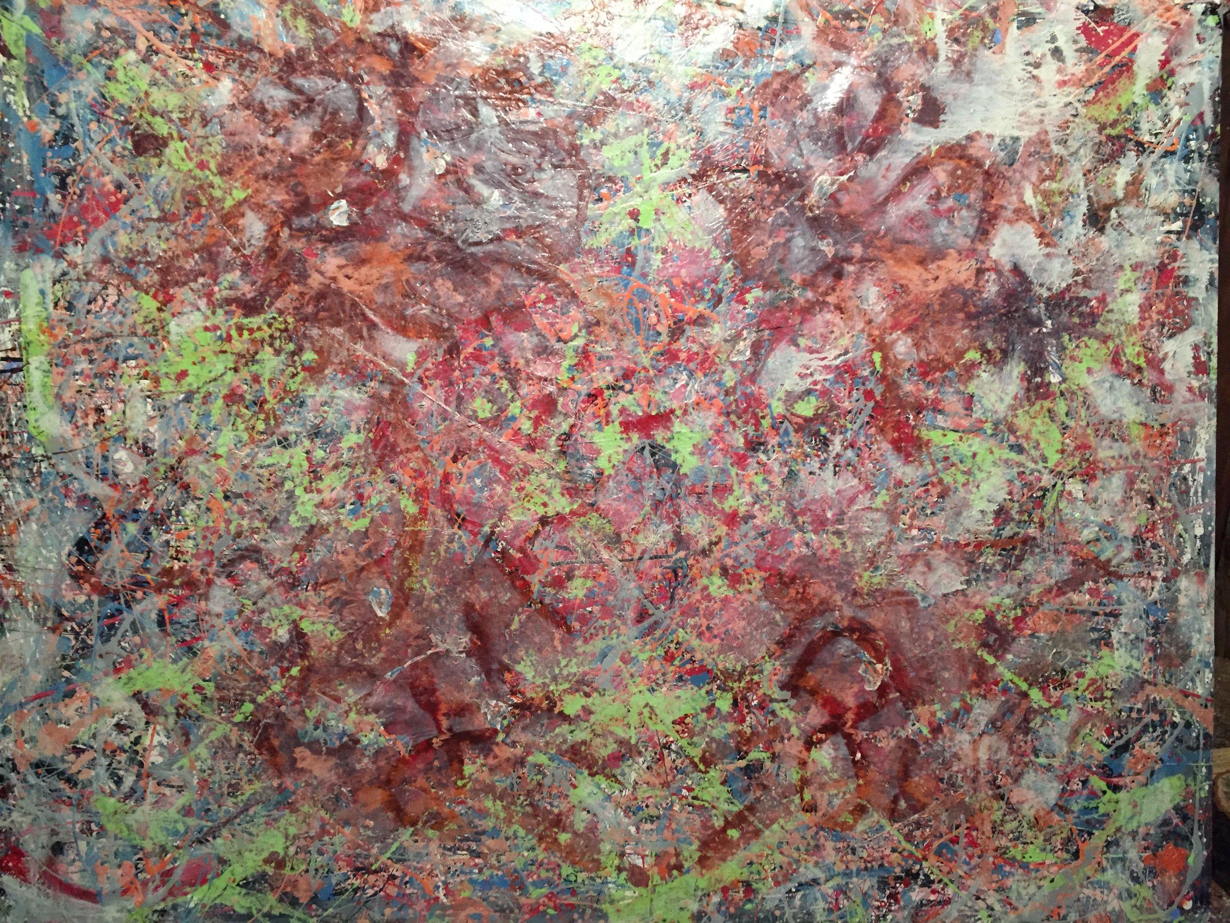 No. 8 In the Mist, F80 145 cm x 112 cm / 50,000 yen
