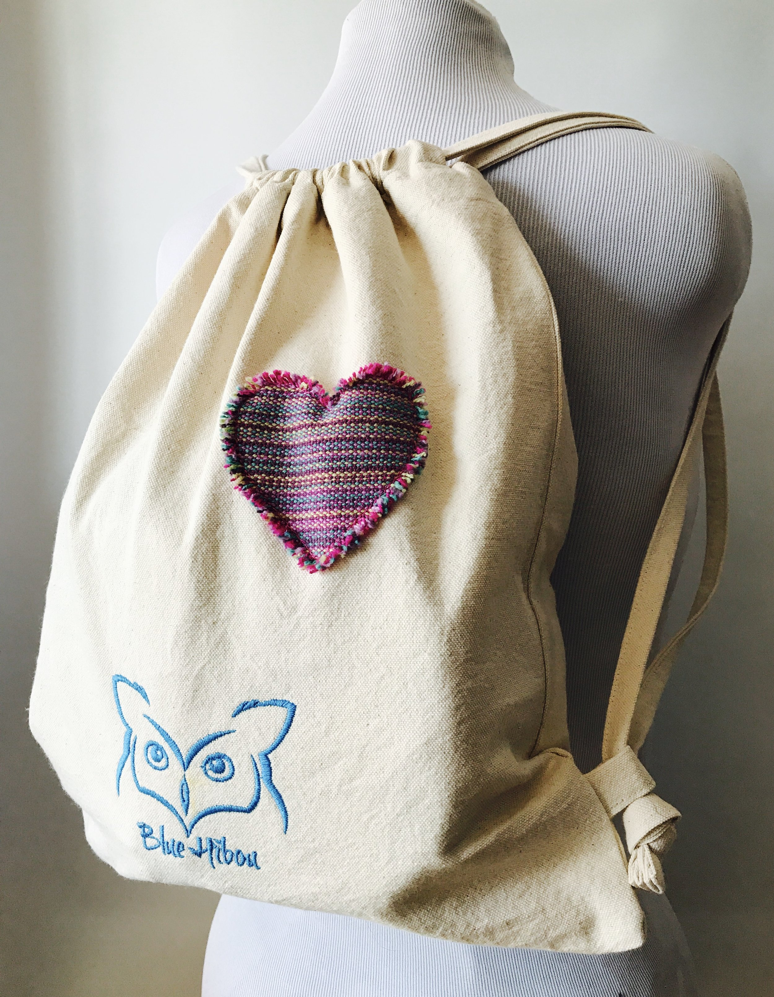 BLUE HIBOU CARRIER BAG (requires a small piece of scrap)