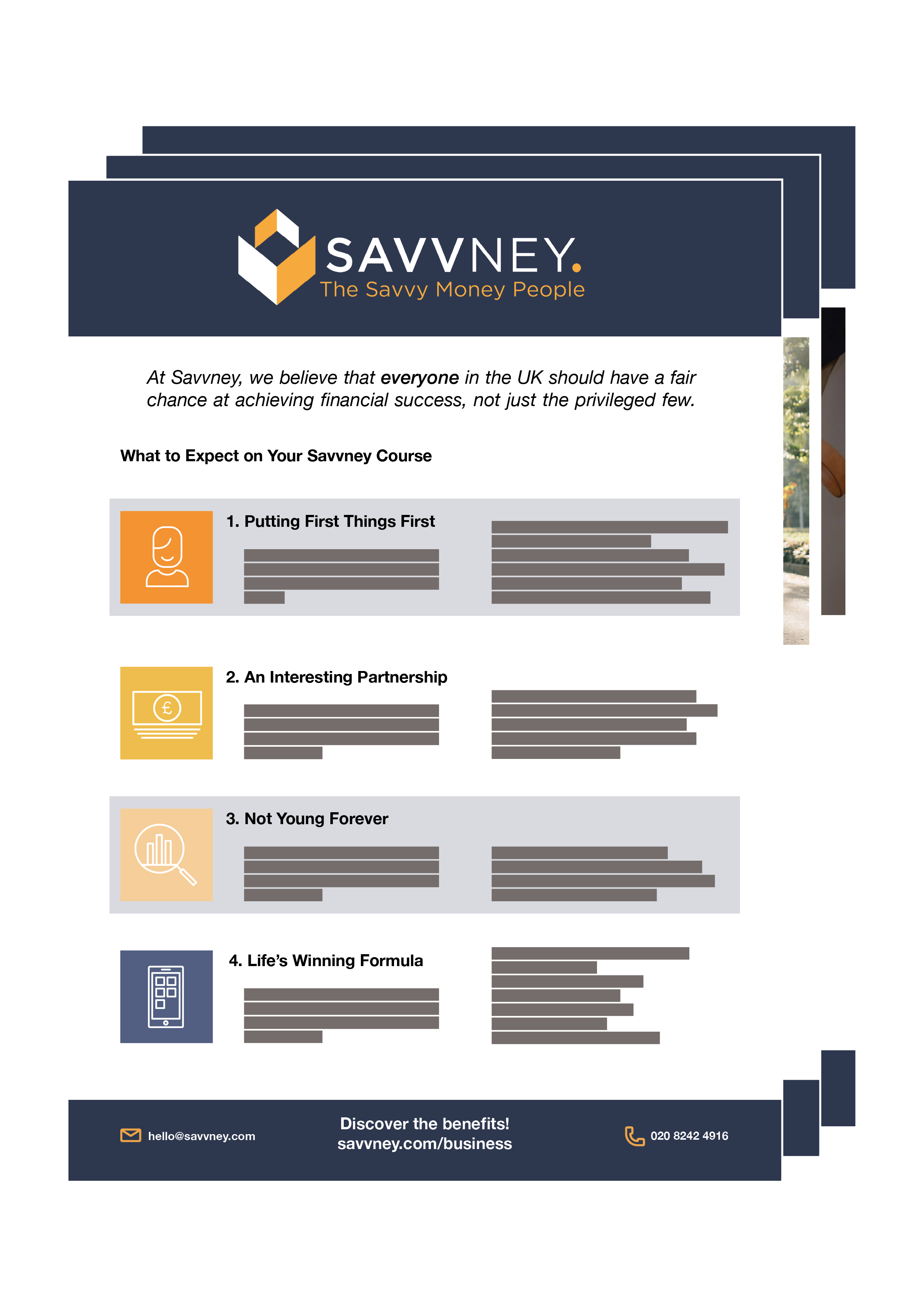 Download your Savvneycourse brochure below! -
