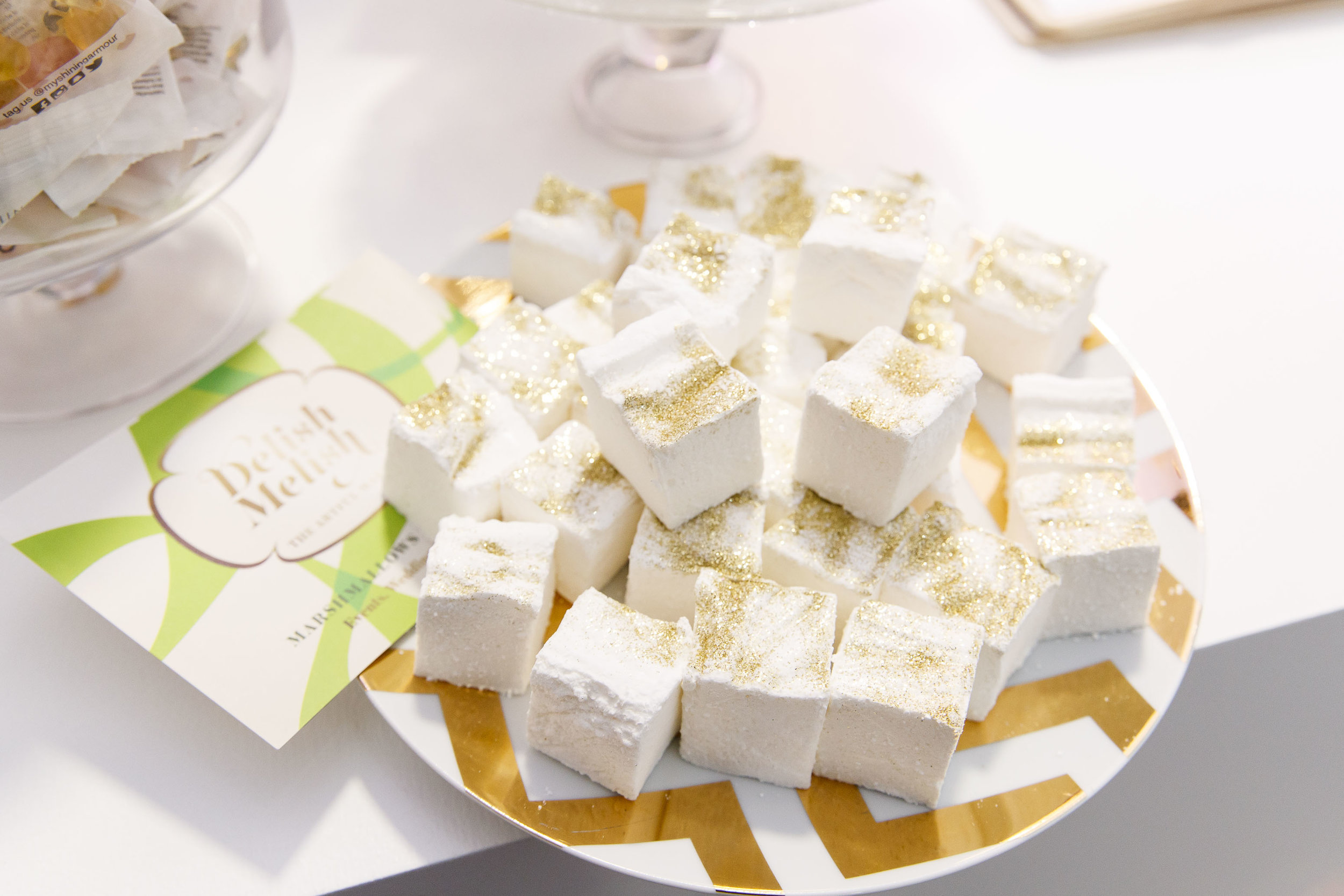 Our vanilla bean marshmallows topped with edible gold dust. Pic by  Andres Poveda