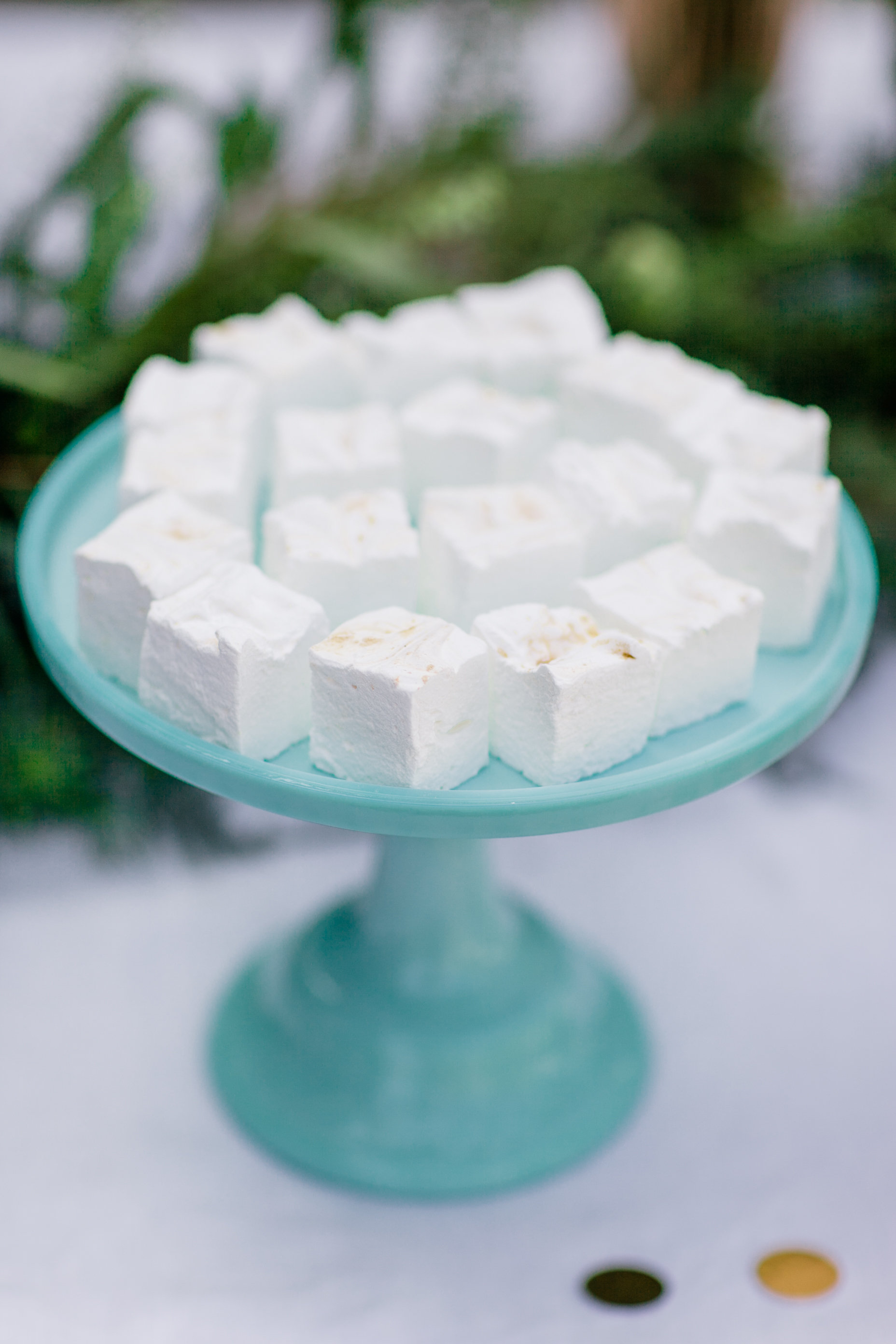 White & Gold Marshmallows.