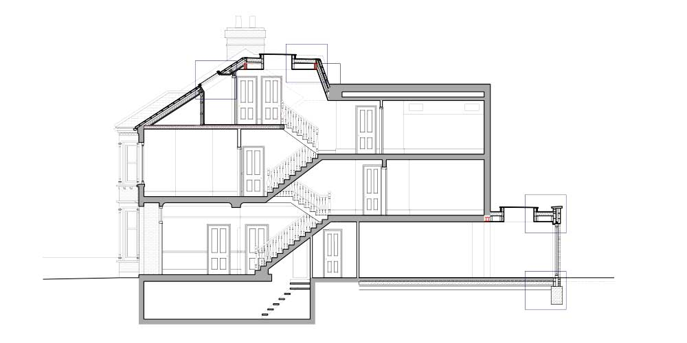 Example Studio Werc Detailed Section Drawing