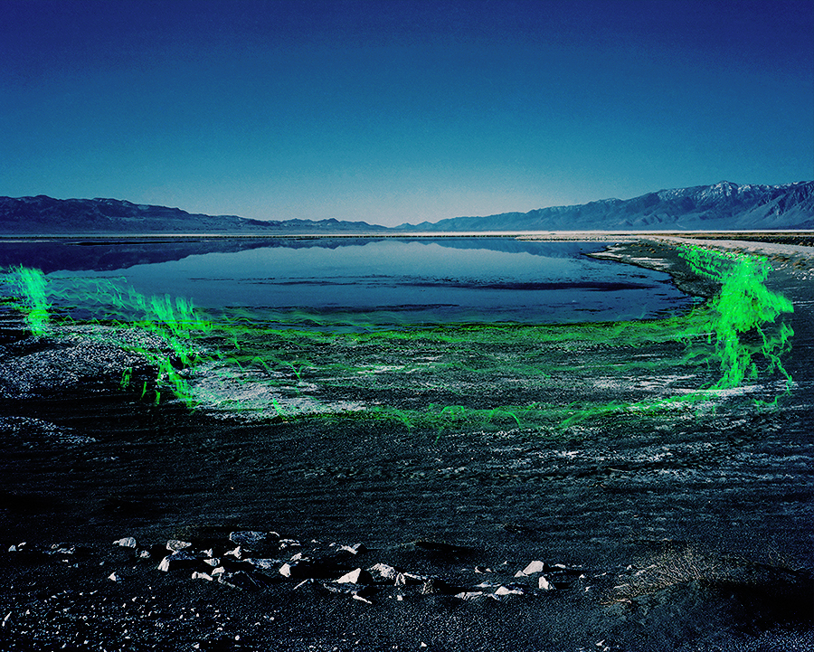 Bridget Batch,  Owens Lake Ritual No. 1 , 2014, digital c-print, 40 x 50 inches
