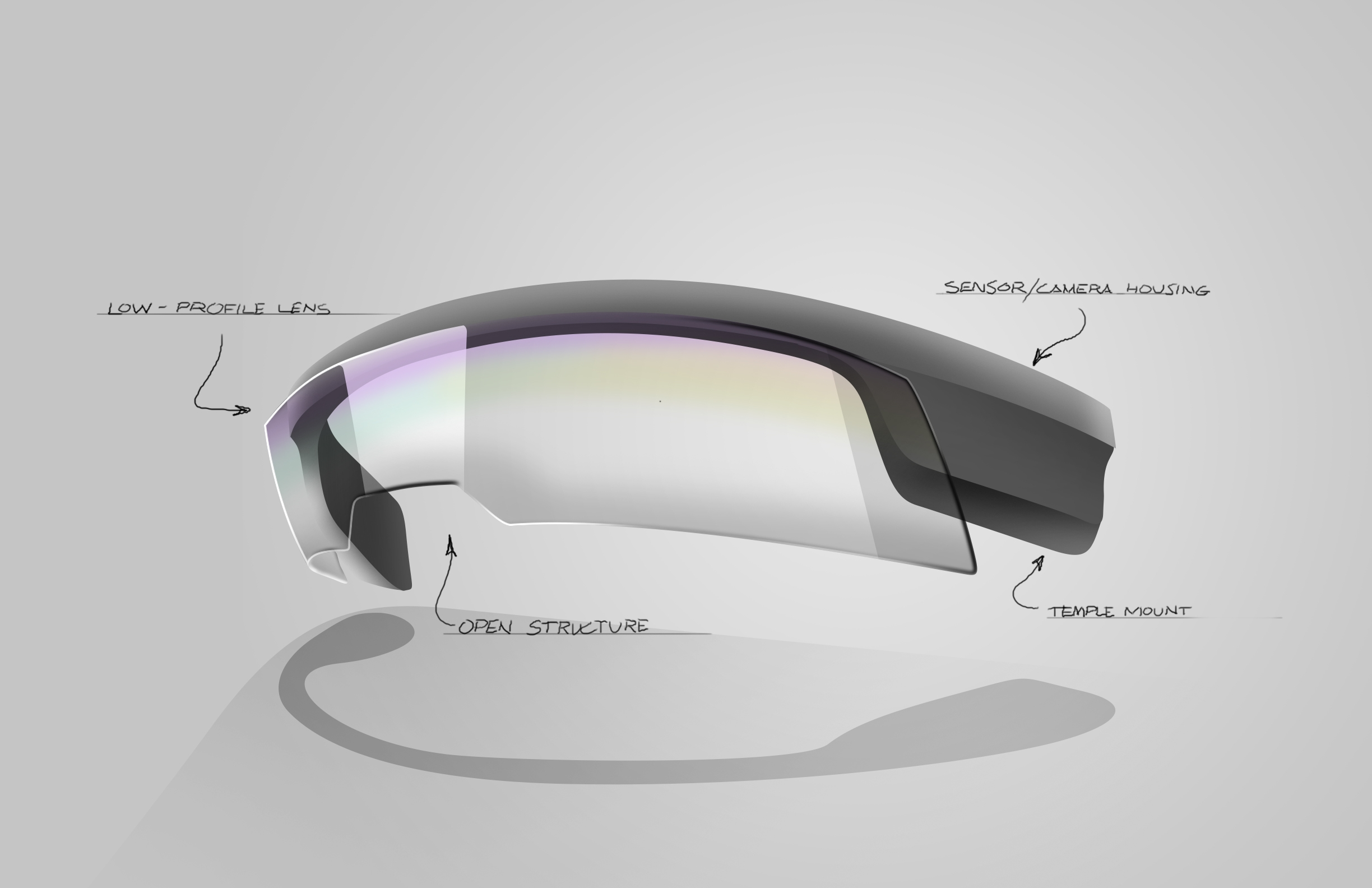 Augmented Reality Glasses Sketch