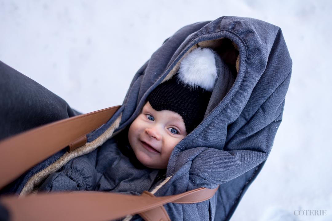 Sleepbag-lämpöpussiin lapsi mahtuu koko vaunutteluiän (0-3 v.), eli yhdellä pussilla pärjää vastasyntyneestä leikki-ikään. :)