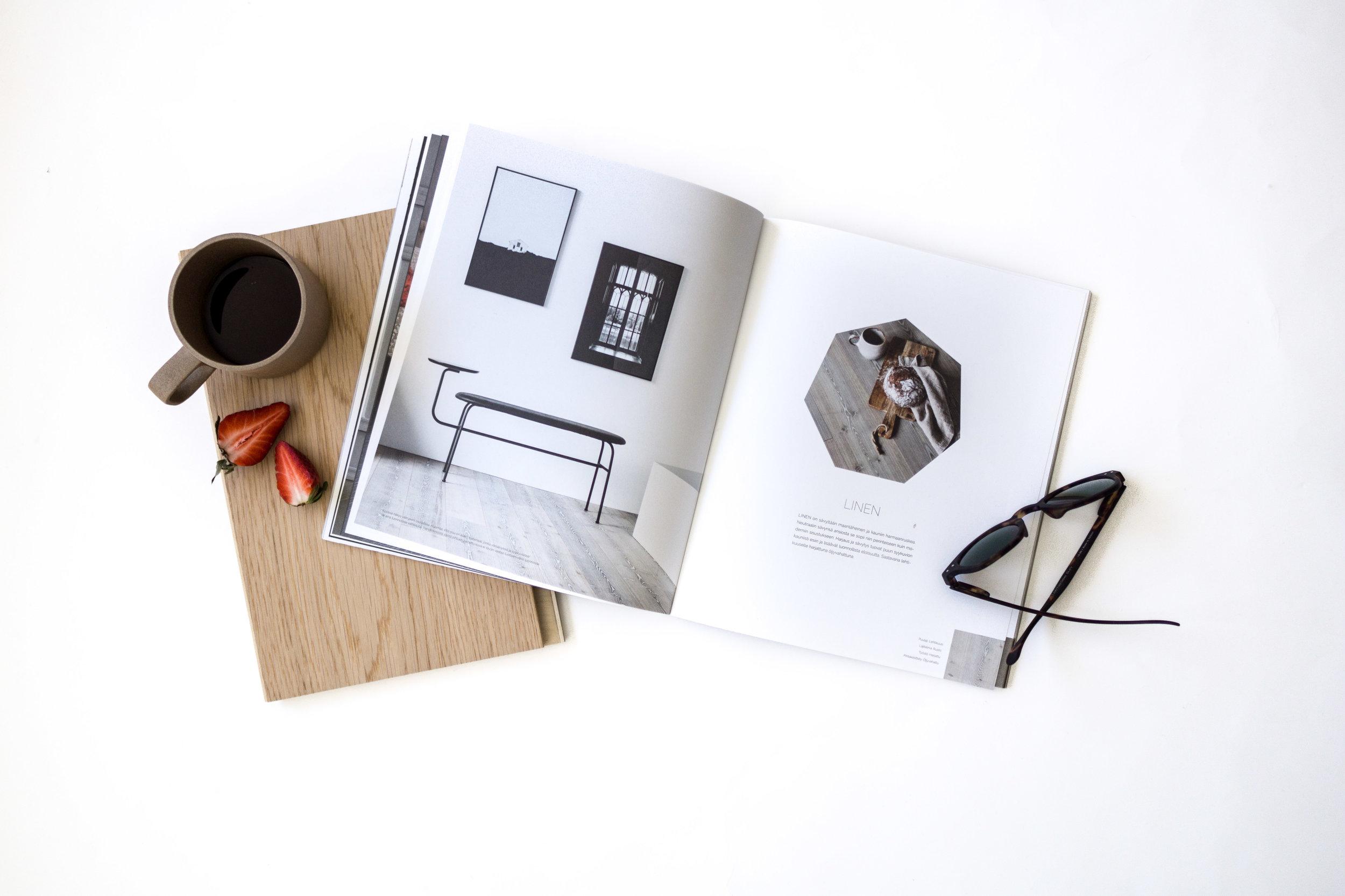 Propsina Timberwisen upea kuvasto, nahkainen Design Torgetista Tukholmasta ostettu avaimenperä (plus avain, josta en tiedä mihin se käy) sekä Japanilaista keramiikkaa Hasami Porcelainilta