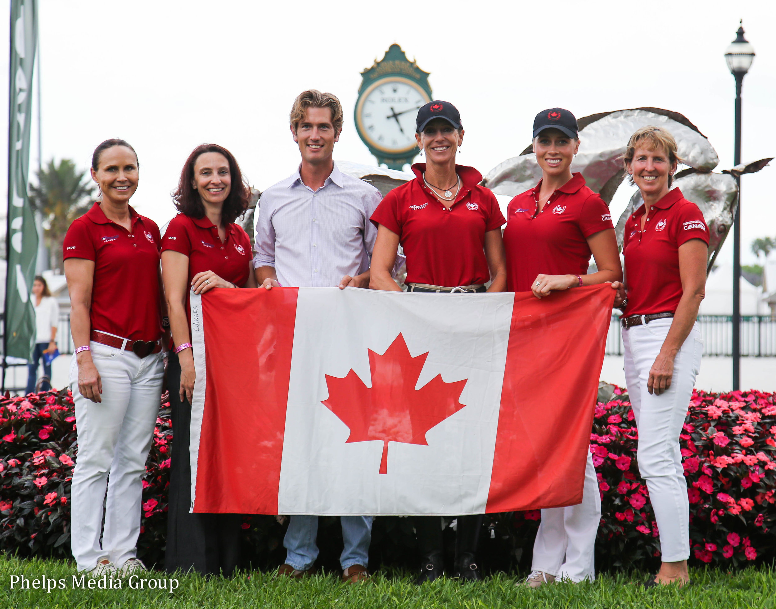 Canadian competitors at the Nations Cup: Jill Irving, Chef-in-Training/ Assistant Chef Alison Martin, Chris von Martels, Shannon Dueck, Megan Lane and Diane Creech. Photo by Mary Adelaide Brackenridge.