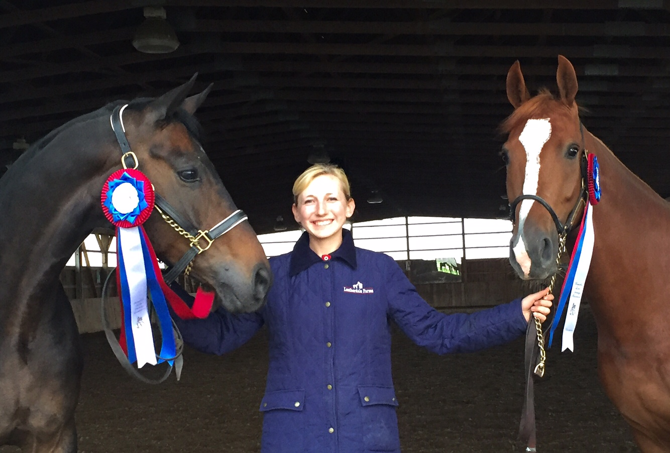 Vanessa Creech-Terauds with Rob Roy and Fleur de Lis L. Photo by Annan Hepner.