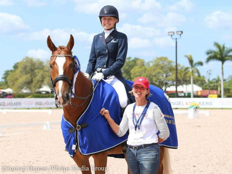 Vanessa Creech-Terauds and Fleur de Lis L with Diane Creech