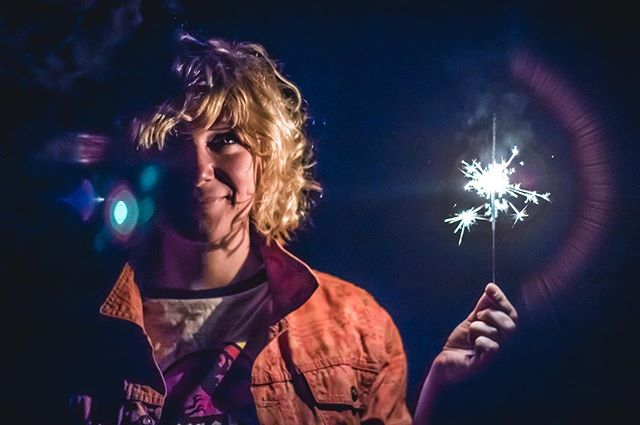 //Lights Out #instadaily #instalike #sparklers #photography #portrait #powercut