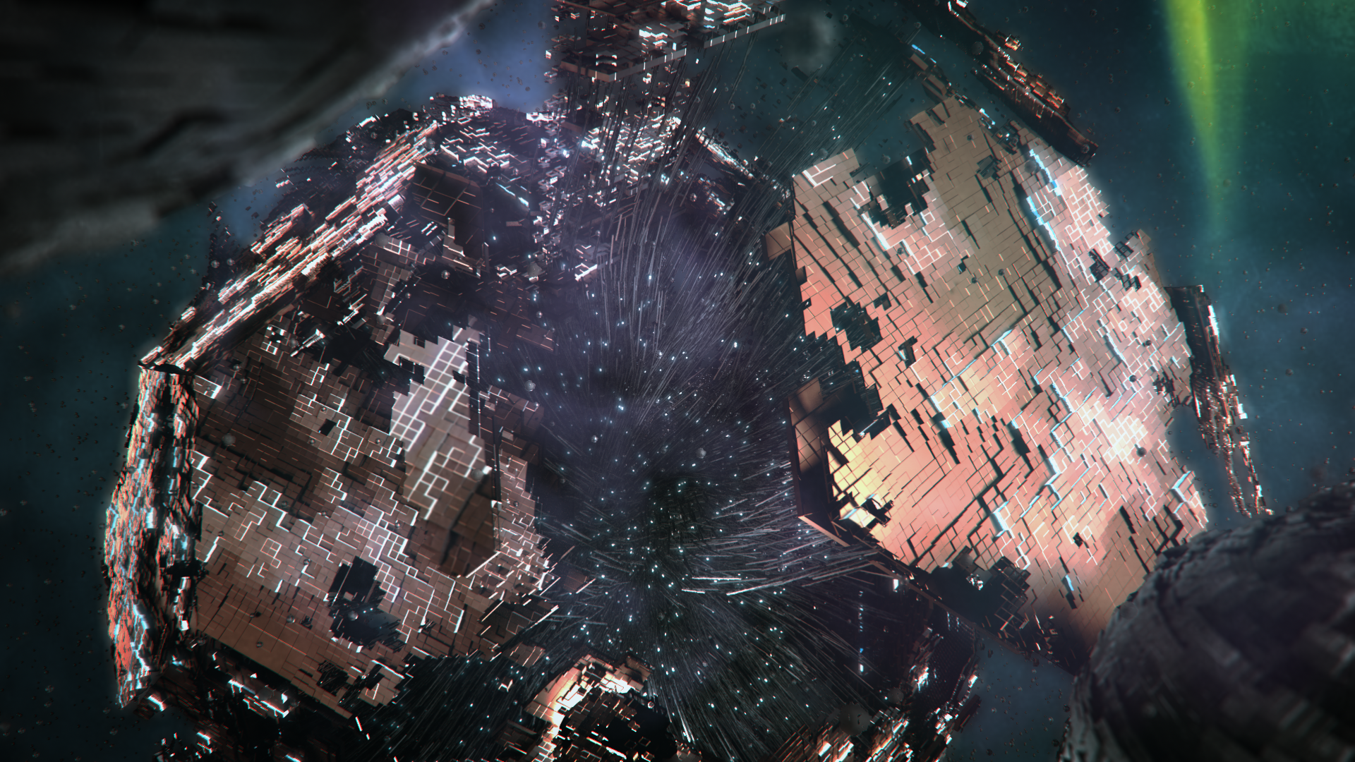 3D render I worked on in Downtime. Playing around with procedural workflow in Cinema 4D, X-Particles and Octane Renderer