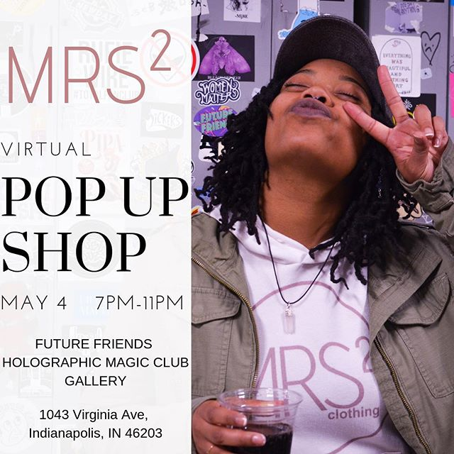 Come kick it with us at @futurefriendshmc for May's First Friday! Drinks, music, giveaways and of course @mrssquaredco gear to purchase! First Friday is ALWAYS a vibe 🤗 meet us in the Gallery May 4th